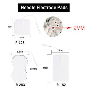 Image 5 - 20/50/100Pcs 5X5Cm Emsประสาทกระตุ้นกล้ามเนื้อElectrode PadsเจลElectrode Pads Tensขั้วไฟฟ้ากายภาพบำบัดเครื่อง2มม.