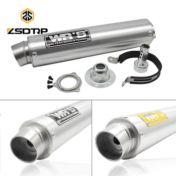 ZSDTRP WRS tubo de Escape motocicleta silenciador Escape Moto Universal modificado para CBR250 R6 WRS CB400 CBR400 VFR400 VTEC ZRX400