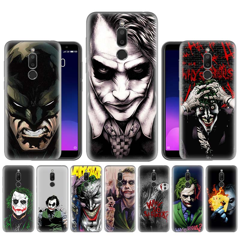 Batman Joker chevalier foncé couvercle de boitier en silicone pour Meizu M6T 16 16X16 th 16s 16Xs souple noir téléphone pare-chocs Capa de protection