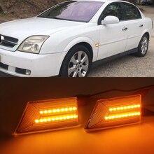 2PCS LED Car Light Dynamic Side Marker Blinker Flowing Lighting For Opel Signum Vectra C 2003 2008 Turn Signal Lamp