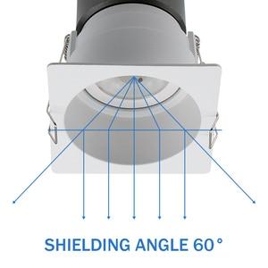 Image 4 - [Dbf] Geen Flickering Hoek Verstelbare Led Cob Verzonken Downlight 7W 12W 15W Ronde/Vierkante led Plafond Spot Light Pic Achtergrond