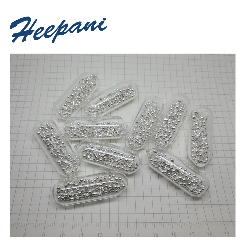 Free Shipping 10mm / 15mm 4N Silver Precious Metal Granules With 99.99% Purity Vacuum Ag Ingot & Silver Blocks For Research