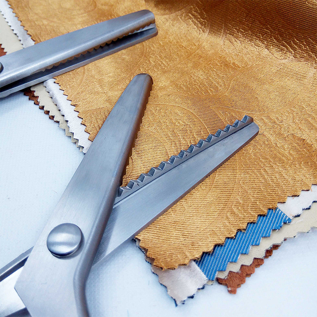 23.5cm Zig Zag couture coupe couture couture tailleur cisaille ciseaux cuir artisanat tissu Denim bricolage ameublement outil Textile nouveau #9 ^ 1