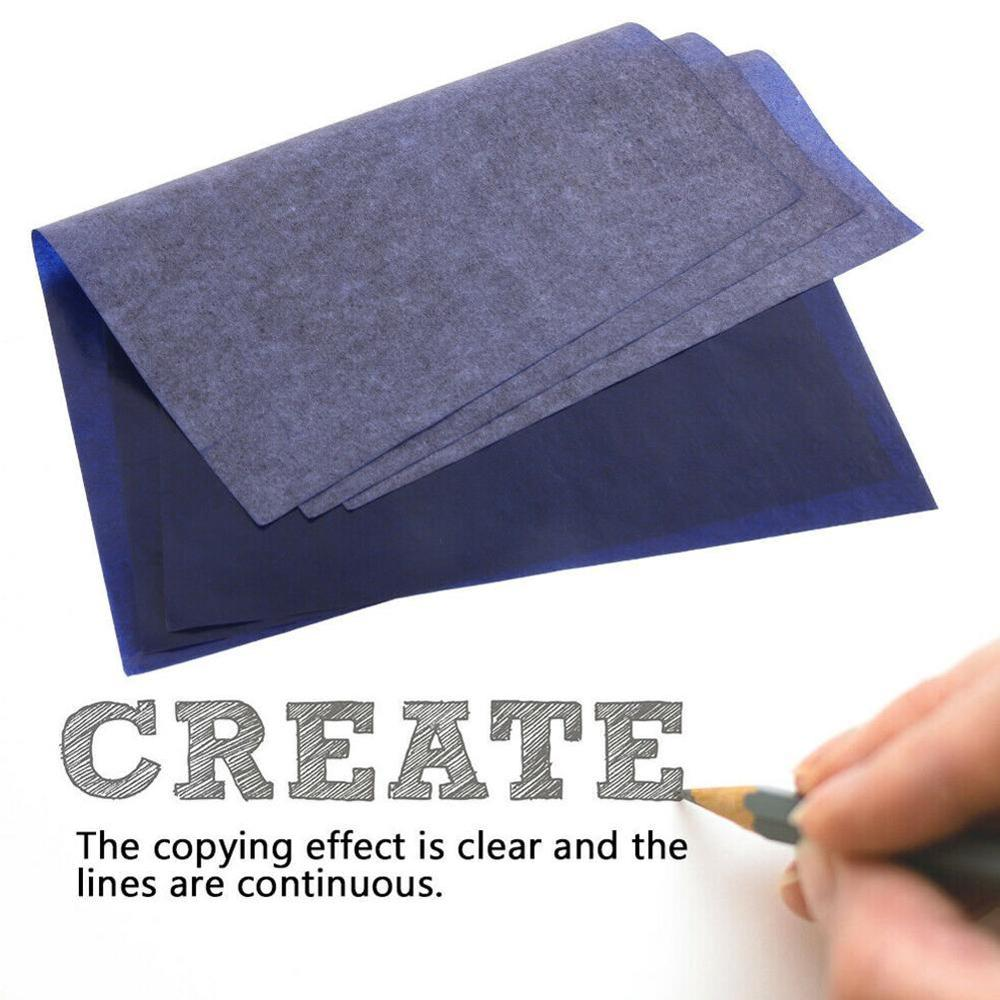 100Pcs/Set Blue A4 Copy Carbon Paper Painting Tracing Paper Graphite Painting Reusable Painting Accessories Legible Tracing