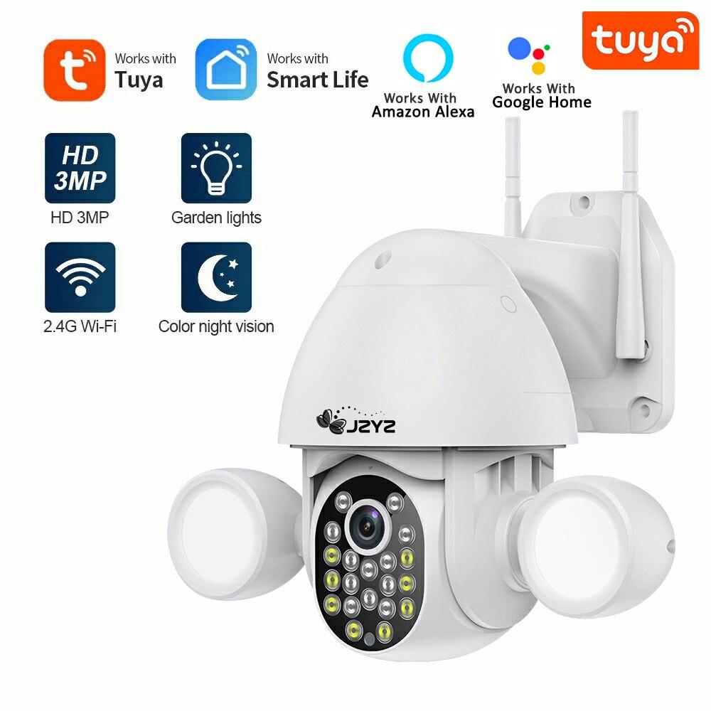 Tuya Smartlife projecteur Yardlight caméra IP de sécurité 3MP double éclairage Audio bidirectionnel prise en charge de la sécurité à domicile Google Home et Alexa
