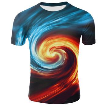Darmowa wysyłka nowy Starry Sky 3D z krótkim rękawem fajne 3D druku koszulki druku mężczyźni kobiety letnie koszulki stylowe topy Tee S-4XL tanie i dobre opinie Tees Hip Hop Drukuj Poliester spandex routine O-neck Suknem