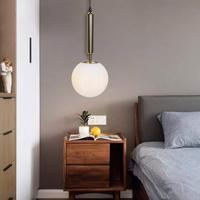 Artpad Nordic lampa wisząca  nowoczesny klosz z przezroczystego szkła klosz lampa wisząca z żarówką E14 do jadalni nocnej światło wiszące w Wiszące lampki od Lampy i oświetlenie na