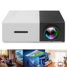 YG300 Mini LED Projector 400-600LM 3.5mm Audio 1080P Video 320x240 Pixels HDMI U