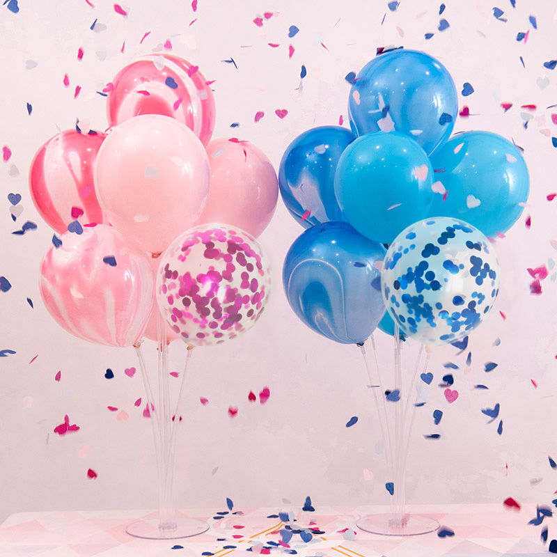 7 Tubes Balloon Stand Set Graduation 2019 2020 Party Decoration Just Married Babyshower Boy Girl 30th 40th 50th 60th Birthday