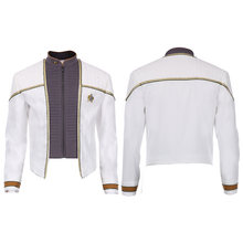 Star Cosplay Trek Data Cosplay Jacket Zip Up Coat Movie Costume Uniform Tops Men Halloween Party Fancy Dress Adult(China)