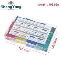 Assortiment de tubes thermorétractables en polyoléfine, 530 pièces, Kit de manches de câble IC, Ratio 2:1