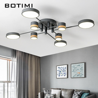 BOTIMI Home Decor LED Ceiling Lights For Living Room Round Metal Ceiling Lamps Surface Mounted Dining Lustres Bedroom luminaires