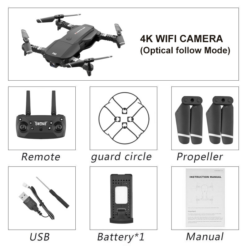 NiuZhuaiFu WiFi FPV RC Drone Folding 4K HD 1080P Optical Flow Drone Wide-angle Real Time Aerial Helicopter Quadcopter
