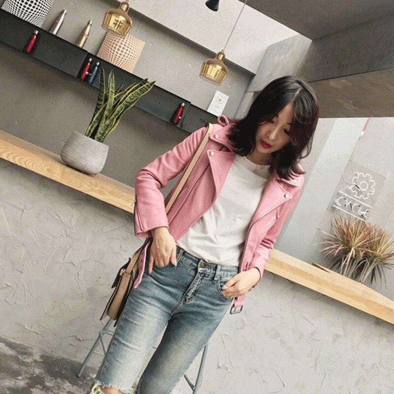 100% Real Sheepskin Coat Female Genuine Leather Jacket Motorcycle Short Slim Women Jacket Lapel Outerwear Womens Jackets Hot XL