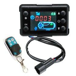Podgrzewacz samochodowy kontroler wnętrze ciężarówki wewnętrzny parking powietrza czarny Monitor LCD 8KW zestaw
