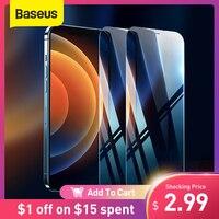 Baseus 2Pcs Gehärtetem Glas Für iPhone 12 11 Pro Max XS Max XR Protector Für iPhone Gehärtetem Film Bildschirm protector Front Glas HD