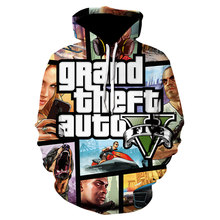Grand Theft Auto 3D 2021 Fun Fancy Hoodie Long Sleeve Street Style Hooded Jacket High Quality Unisex Gaming Sweatshirt