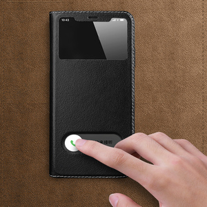 Image 5 - فاخر الليتشي الملمس حقيقية أغلفة جلدية حقيبة لهاتف أي فون 11 برو ماكس 7 8 Plus X XS XR نافذة عرض أكياس الهاتف حامل Coque