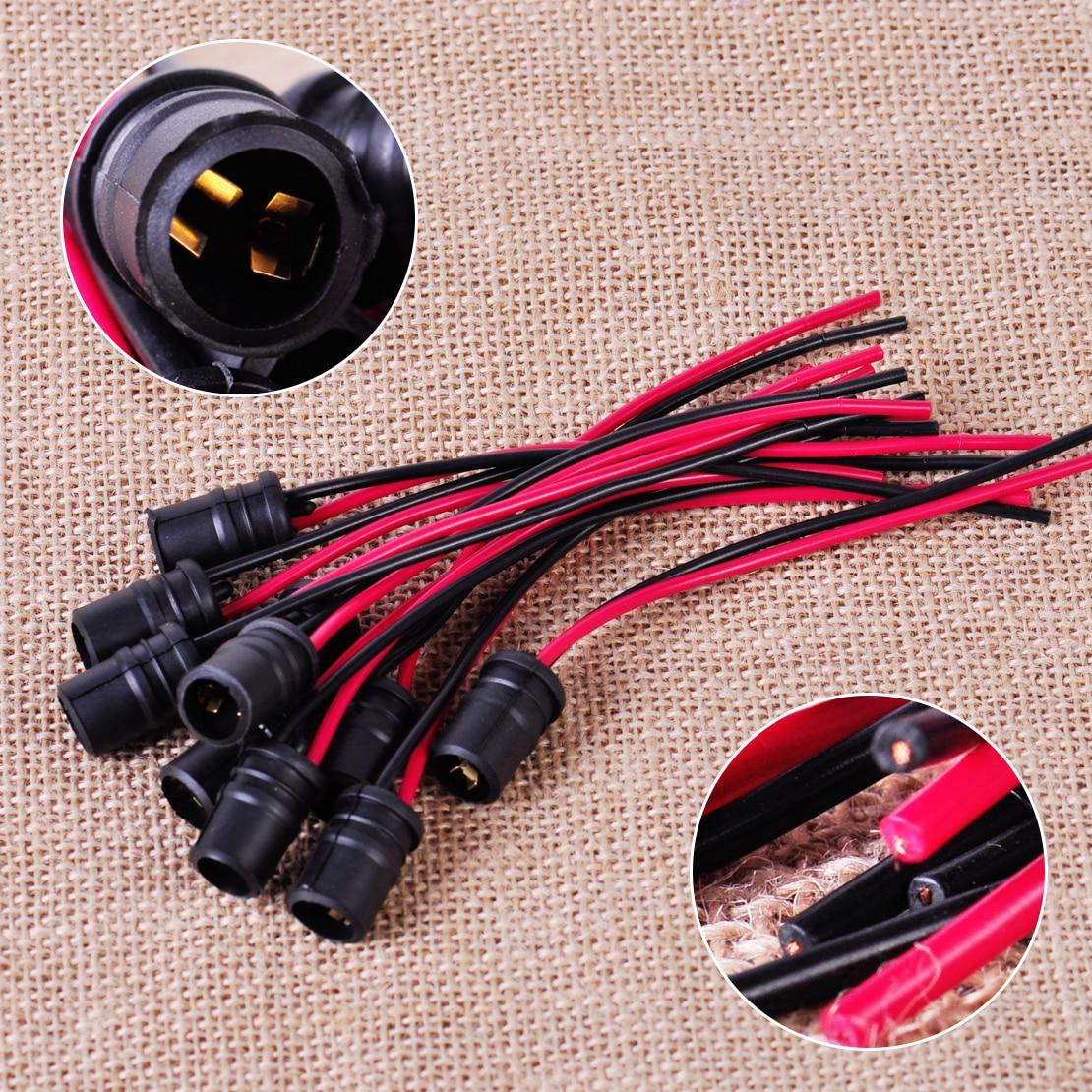 10pcs T10 W5W Light Bulb Socket Holder fit Car Truck Boat Soft Rubber Connectors