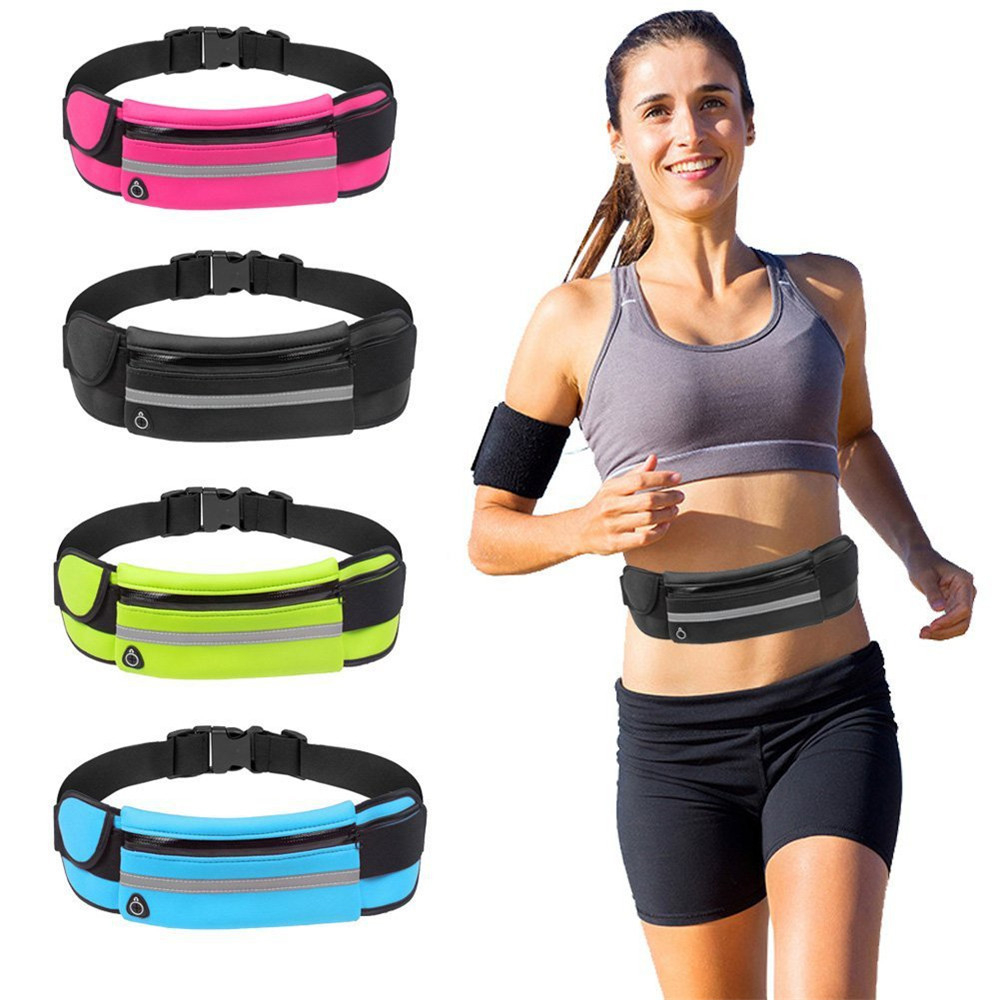 Slim Running Waist Belt Jogging Bag Fanny Pack Travel Money Marathon Gym Workout Fitness Mobile Phone Holder 907