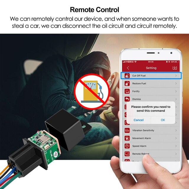 Vehicle Tracker Car MV730 Hidden Design Cut Off Fuel Shock Tow Alert GPS Moto ACC Detection Relay Mini GPS Tracker Car Tracker 3