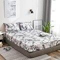 Коврик для матраса с мраморным узором  нескользящий чехол для матраса  грязный лист для кровати  защита для постельного белья  2019