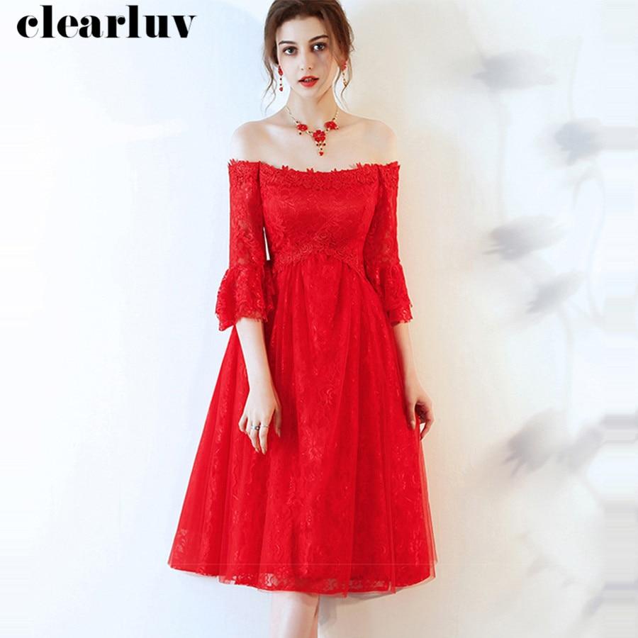 Full Lace Pregnant Women Prom Dress Vestidos De Gala Y015 2019 Red V-Neck Dresses Women Party Night Elegant Plus Size Prom Gowns