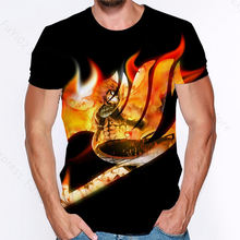Fairy tail 3d print natsu t shirt man women clothing streetwear