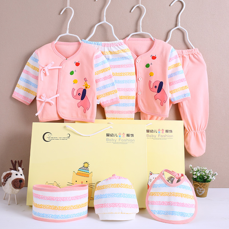 Newborn Clothes For Babies BABY'S FIRST Month Gift Box New Born Baby Spring And Autumn Pure Cotton Set Primary Gift Supplies Enc
