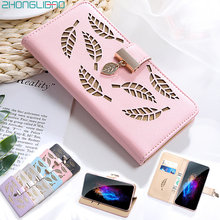 Leaves Hollow Wallet Flip Case for Xiaomi K20 Note 8 7 Pro Xiami Mi Cc9 Cc9e A3 A2 A1 Xiomi Redmi 7 7a 6 6a 4x Note 8 7 6 5 Pro(China)