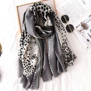 Image 5 - Luxury ฤดูหนาวฤดูใบไม้ร่วงฤดูหนาวผ้าพันคอเสือดาวผ้าลินินผ้าฝ้ายผ้าคลุมไหล่ผู้หญิง Pashmina ผ้าพันคอฮิญาบมุสลิม Cape Wrap muffler