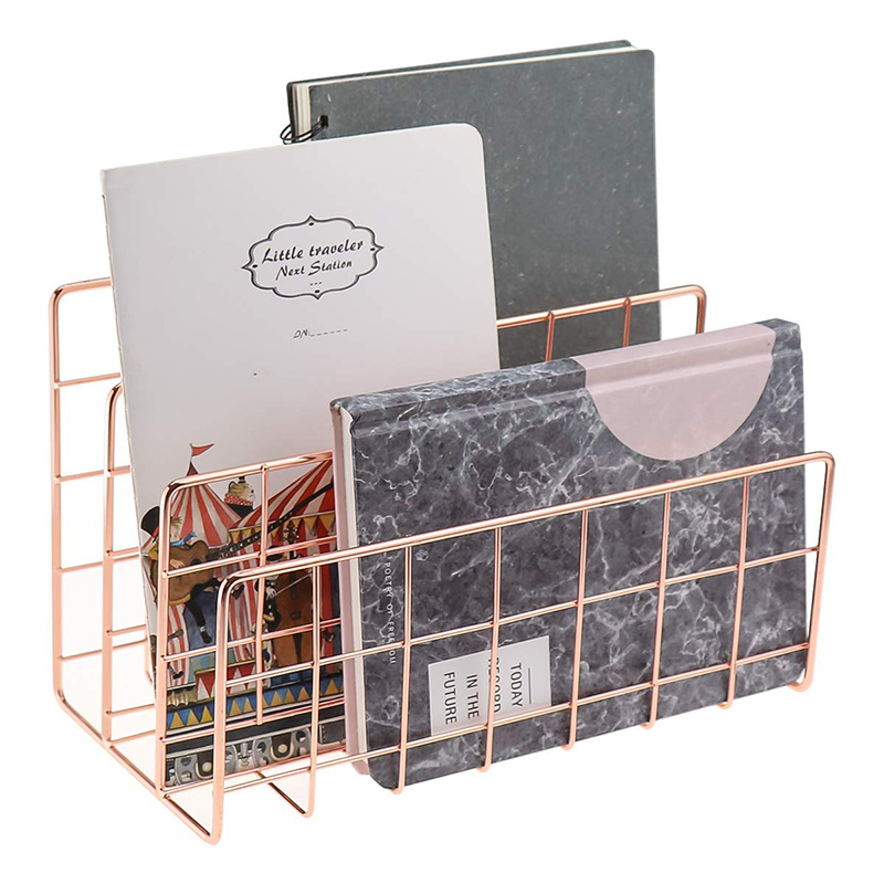 Desktop Mail Organizer, 3-Slot Metal Wire Mail Sorter, Letter Organizer For Letters, Mails, Books, Postcards And More, Mail Hold