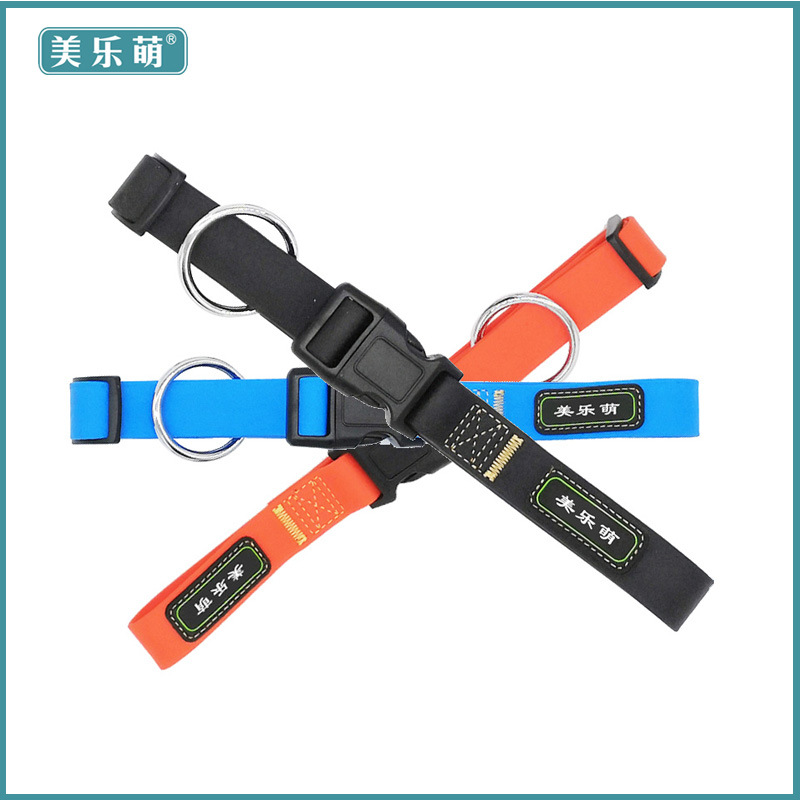 New Style Hot Selling Pet Supplies PVC Waterproof Dog Daily Use Pet Collar Traction Rope Factory Price