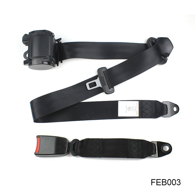 Safety Strap In Grey Adjustable 2 Point Lap Seat Belt for Alfa Romeo Spider