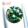 5-14mm cheapest green color with a little yellow light Round Brilliant cut moissanites loose stone