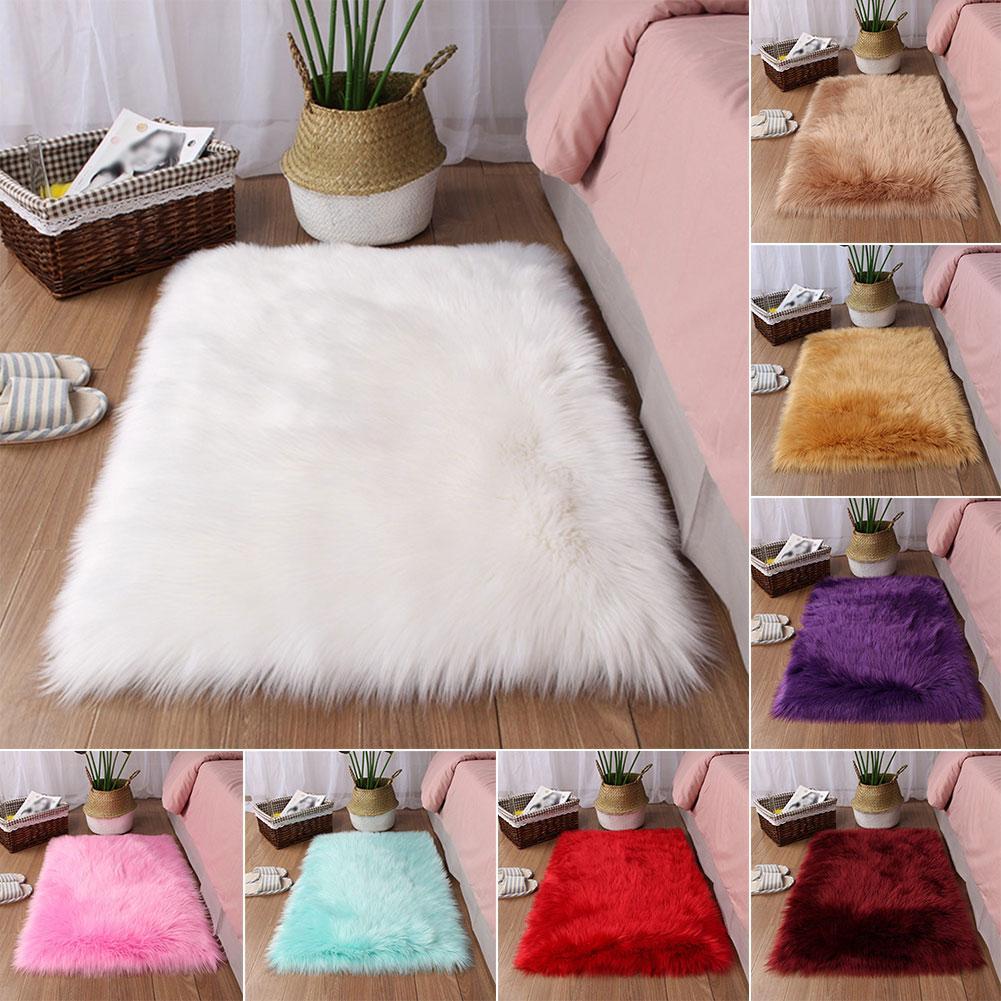 90x60cm Rectangle Thicken Floor Mat Plush Rugs Carpet For Living Room Bedroom Area Rug Modern Carpet Mat Modern