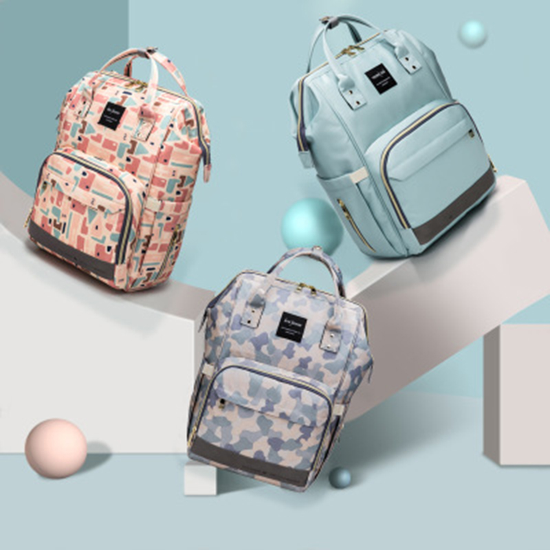 Fashion Diaper Bag Backpack Multifunction Waterproof Mommy Bags Baby Travel Bottle Insulation Packet Newborn Nursing Backpack