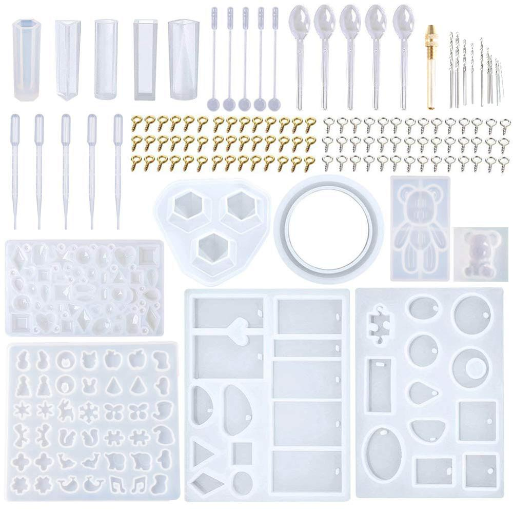 229Pcs Diy Jewelry Casting Molds Tools Set More 9 Silicone Jewelry Resin Molds With 70 Designs 1 Earring Molds With 25 Designs