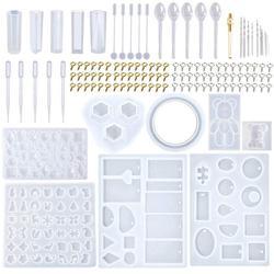 Ensemble d'outils de moulage, 9 moules en résine de Silicone pour bijoux avec 70 modèles, 1 moule pour boucles d'oreilles avec 25 modèles, 229 pièces, bijoux à bricoler soi-même