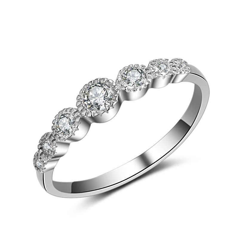 925 Чистое Серебро Белое VVS1 кольцо с бриллиантами для женщин Anillos Свадебный драгоценный камень топаз Обручальное топаз Серебро 925 Ювелирное кольцо для девушек gümüş серебро 925 серебряные украшения