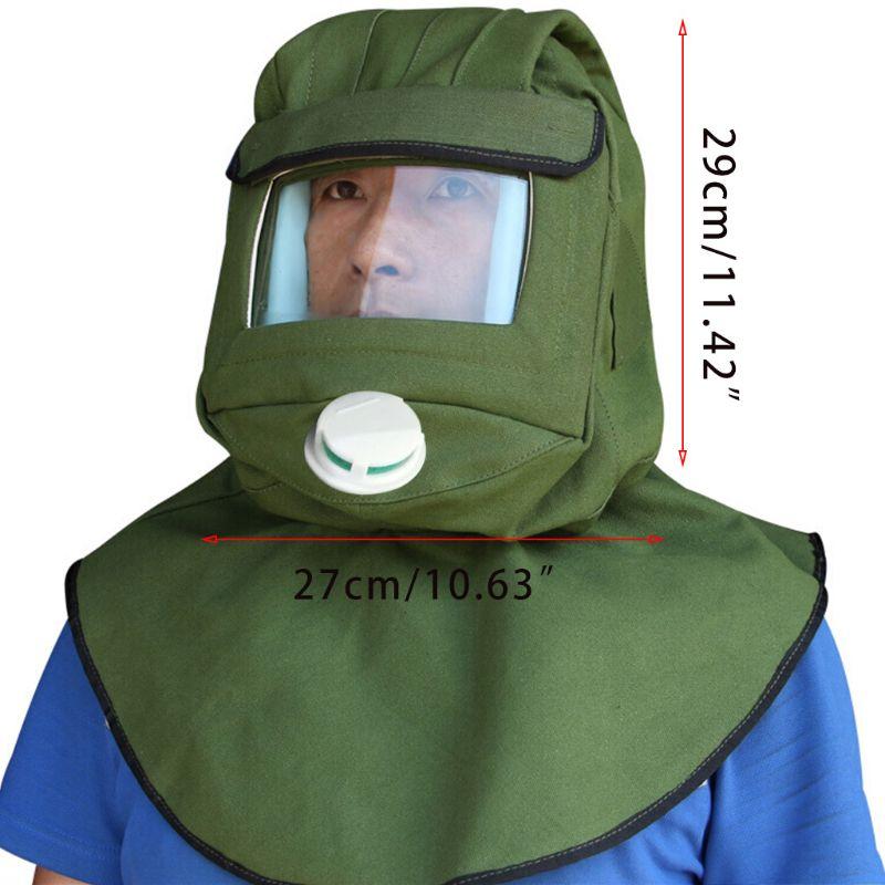 Safety Sandblast Helmet Sand Blast Hood Protector Mask for Sandblasting Grinding PXPE