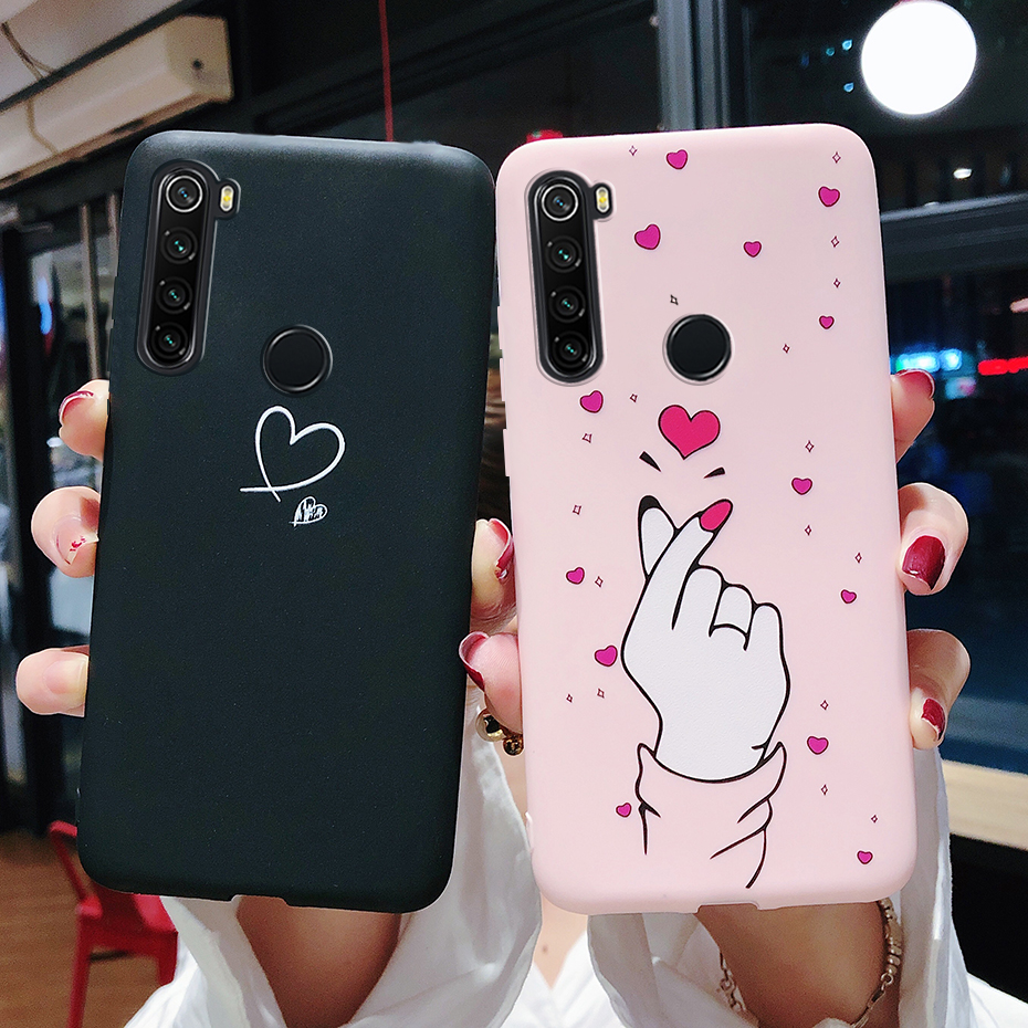 Case For Xiaomi Redmi Note 8 7 6 Pro Case On Redmi 8A 7A 6A Cases Silicone Matte Soft Cover For Xiaomi Redmi Note 8T Phone Case