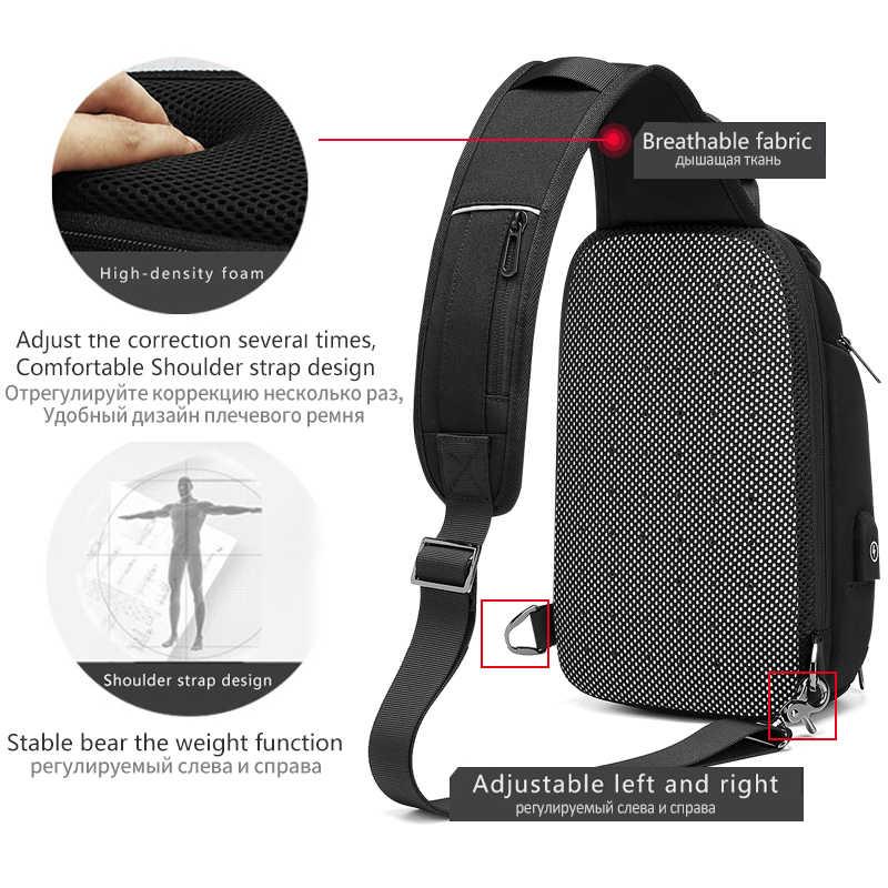 EURCOOL yaz seyahat göğüs çantası erkek kısa seyahat messenger çanta su geçirmez göğüs paketi 9.7 inç iPad Crossbody çantası erkek n2002