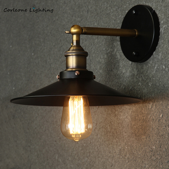 Retro Wall Lamp Vintage Industrial Wall Lamps Iron Loft Sconce Wall Lights Bedroom Lamp E27 Bar Cafe Home Decor Light Fixtures american wall lamp industrial vintage loft style wall light for bedside wall sconce glass iron art edison e27 lighting fixtures