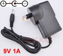 1PCS 9V 850mA -1A AC Adaptor Adapter Power Supply Wall Charger For CASIO LK300tv LK-100 LK-200 LK-210 AD-5 AD-5MLE AU Plug