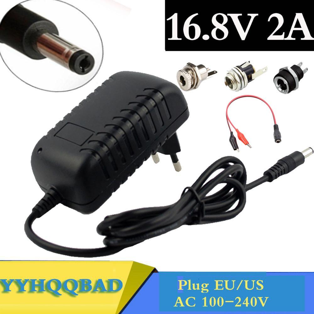 Зарядное устройство для литий-ионных аккумуляторов 16,8 в, 2 А, для литиевых аккумуляторов 14,4 В, 18650 мм x 5,5 мм, разъем питания постоянного тока, г...