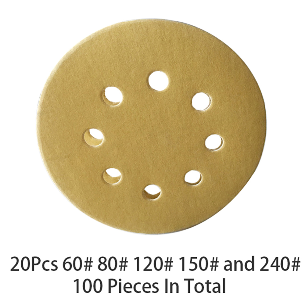 SHINA 10pcs 5//125mm 8 Hole 600 Grit Mix Sanding Disc Random Orbit Sandpaper Sander