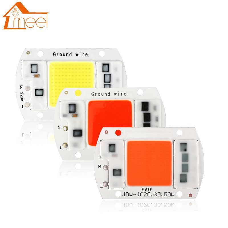 110v 220v LED Floodlight 20//30//50W Cool//Warm White COB Chip Smart IC Driver Lamp