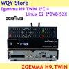 Newest Version Zgemma H9 TWIN 2*CI+Linux E2 System 2*DVB S2X IPTV twin Satellite TV Receiver+  ZGEMMA H9 4K TV BOX