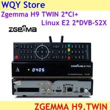 הגרסה החדשה ביותר Zgemma H9 תאום 2 * CI + לינוקס E2 מערכת 2 * DVB S2X IPTV תאום לווין טלוויזיה מקלט + ZGEMMA H9 4K טלוויזיה תיבה
